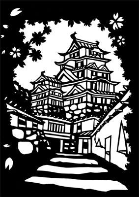 播磨おとなの塗り絵・姫路城